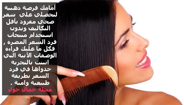 من افضل وصفات فرد الشعر طبيعيآ