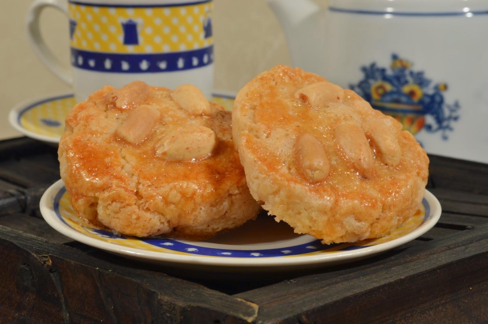 Galletas de manteca con aroma de naranja y limón