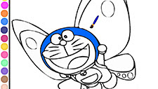 Doraemon Butterfly Coloring Game Play Online