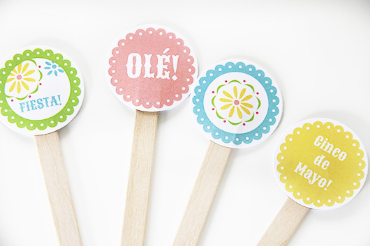 Free Printable Margarita Drink Stirrer Circles | Paper & Party Love
