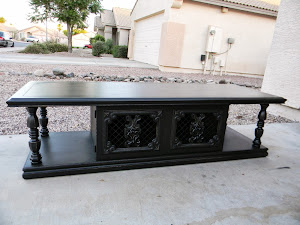 Black Shabby Coffee Table  *SOLD*