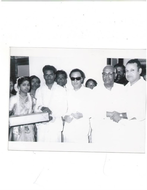MGR & S.A. Asogan in a Marriage Function