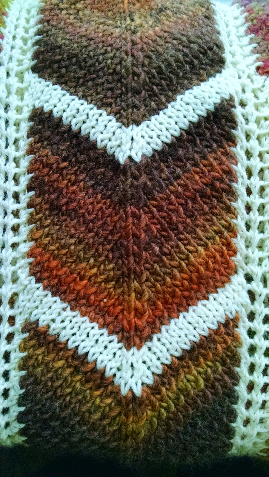 Pattern: Bordered Chevron Blanket   Knit A Bit Crochet Away