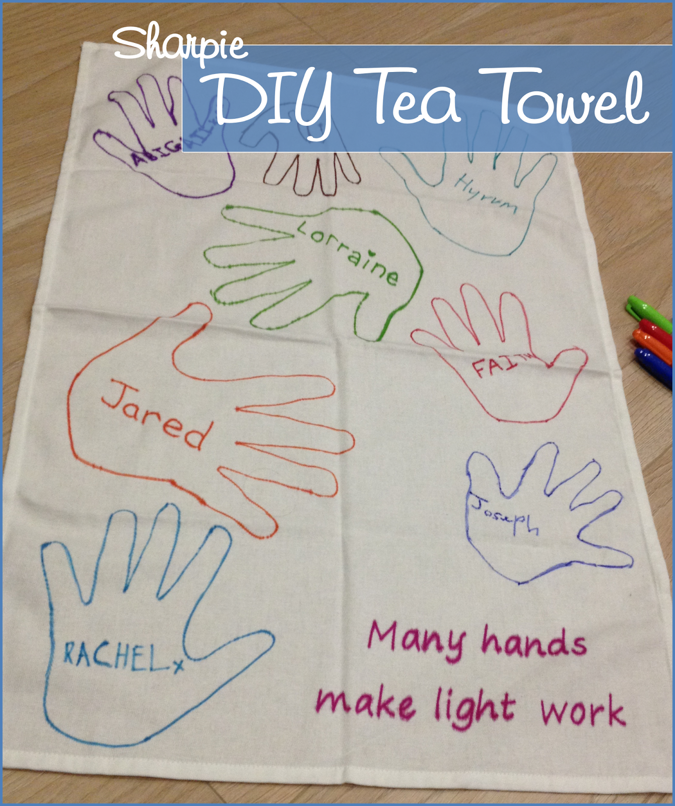 KugAlls: DIY Sharpie Tea Towel