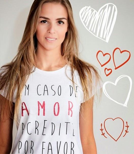 Camiseta Em Caso de Amor Acredite PF