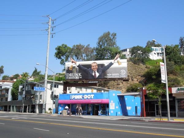 Drunk History billboard Sunset Strip
