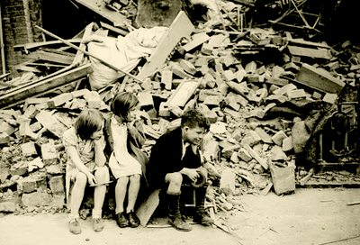 Aftermath of the Blitz, London