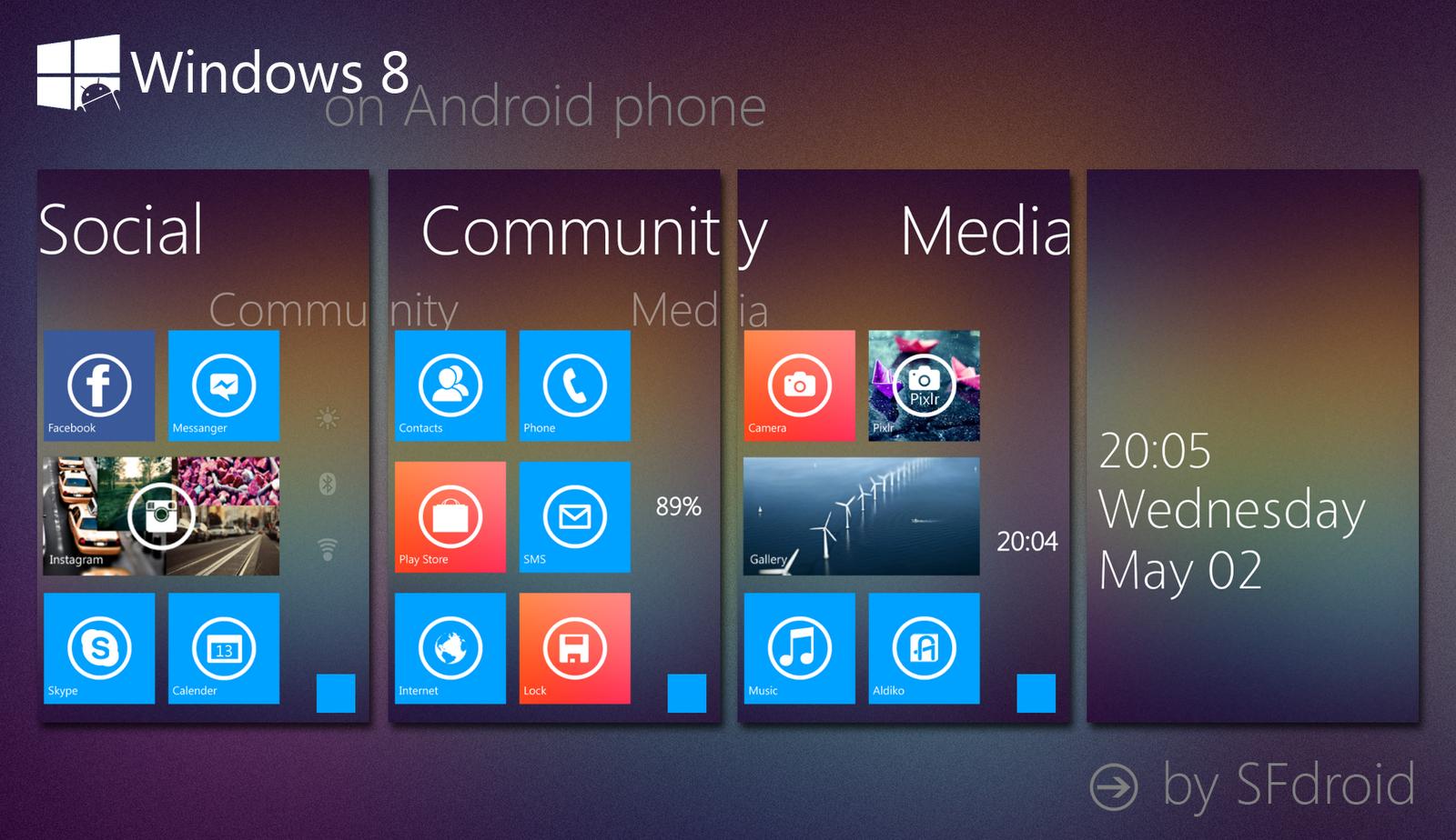 Как из андроида сделать windows 7