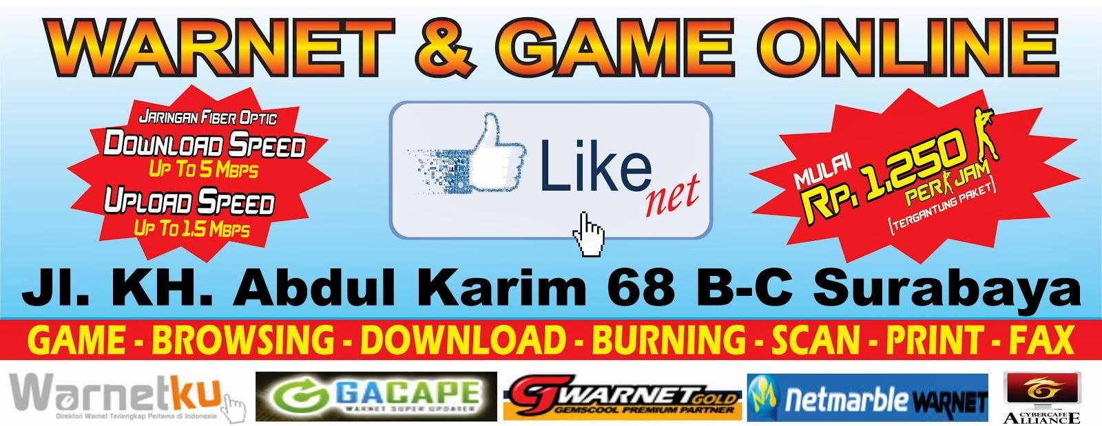Like Net Surabaya (WARNET & GAME ONLINE TERCEPAT)