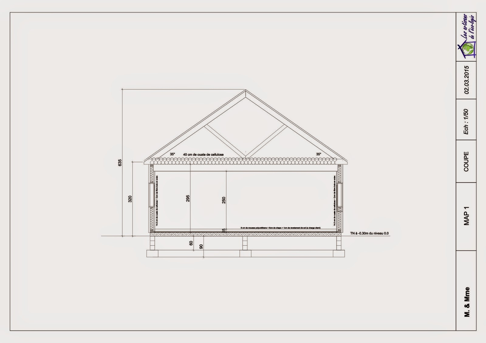 Plan maison bioclimatique plain pied for Conception de construction de maisons