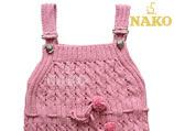 nako dan anlatımlı pembe jile çocuk elbisesi modeli