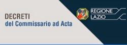 DECRETI DEL COMMISSARIO AD ACTA
