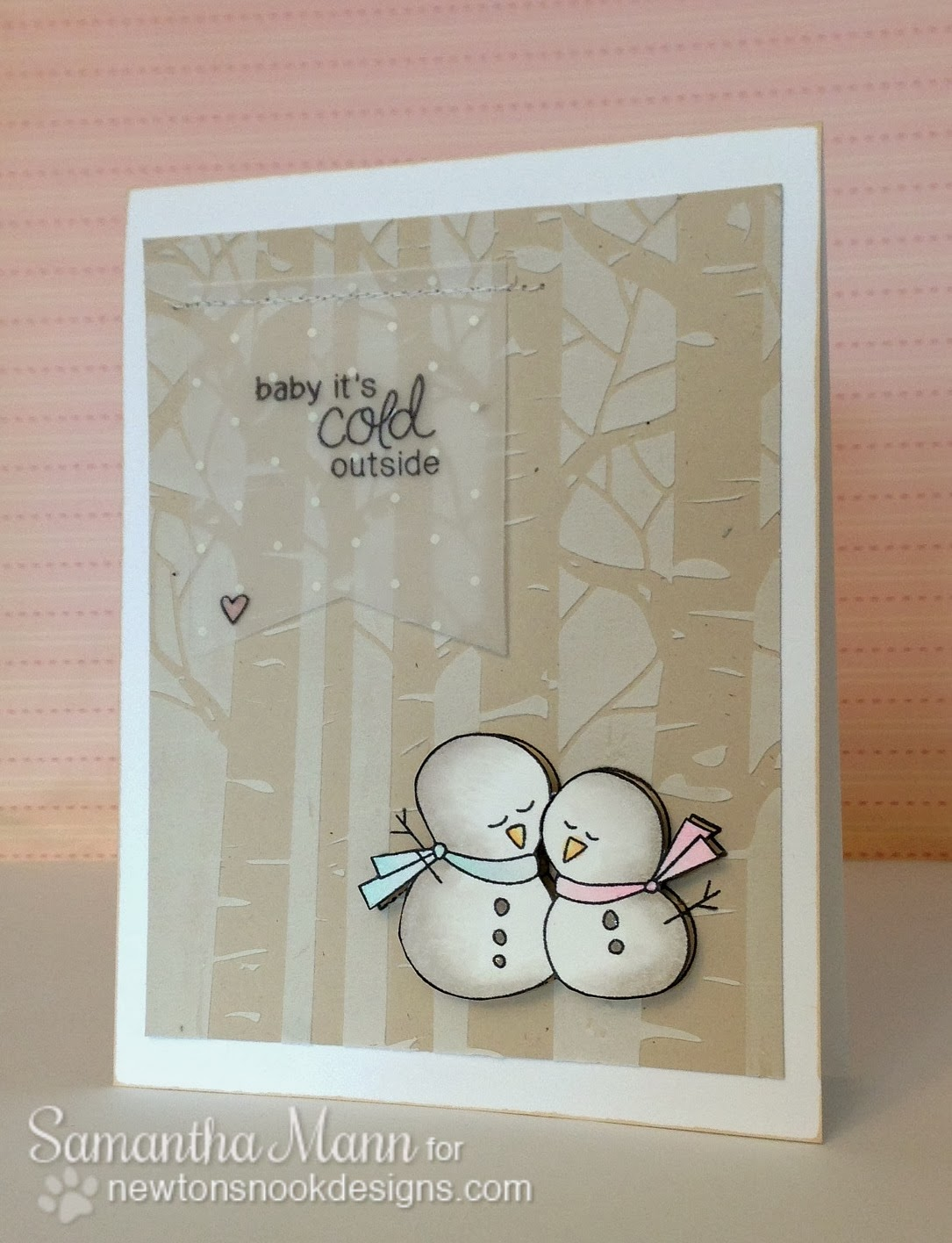 Sweet Winter Snowman Card by Samantha Mann using Frozen Friends Stamp set by Newton's Nook Designs