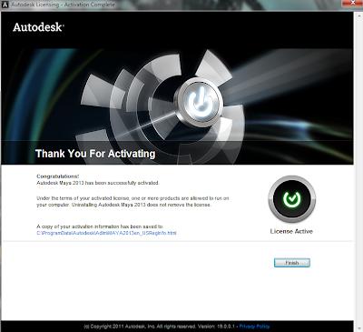 Autodesk Maya 2013 activation
