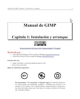 Imagen del manual de GIMP en español