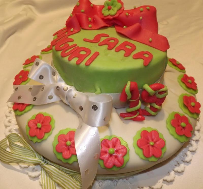 La buona cucina di katty torta fiorellini per i 19 anni - La cucina di sara torte ...