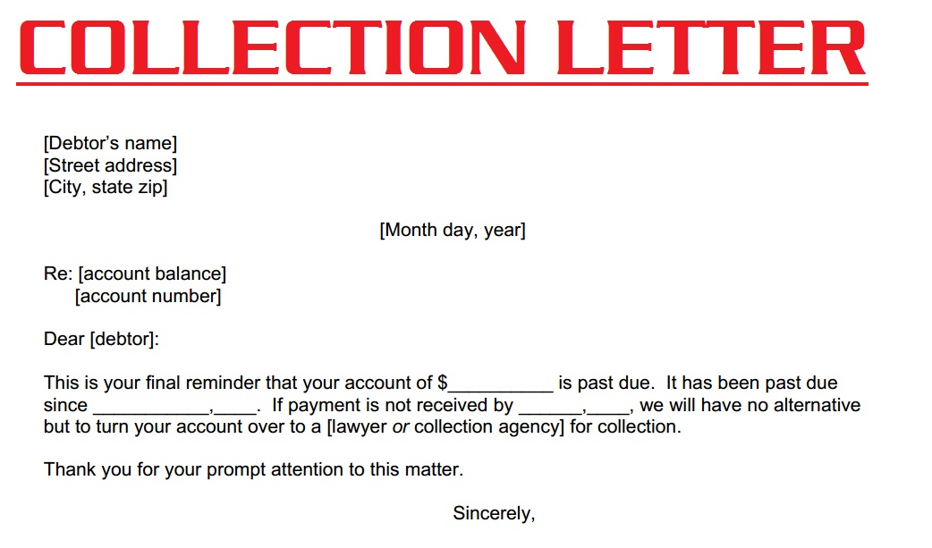 ... collection letter | collection letter template | collection letter