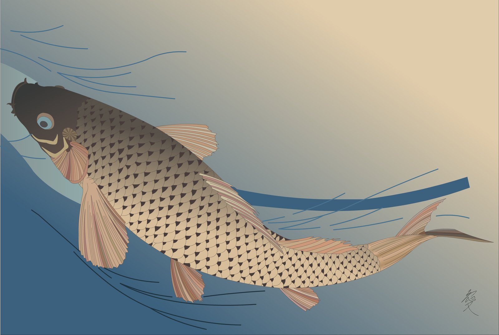 wallpaper japanese carp wallpaper