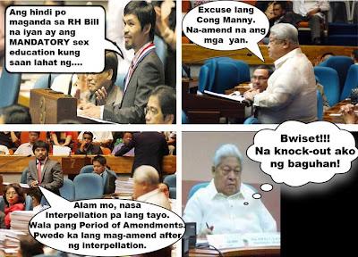 Edcel Lagman vs Manny Pacquiao