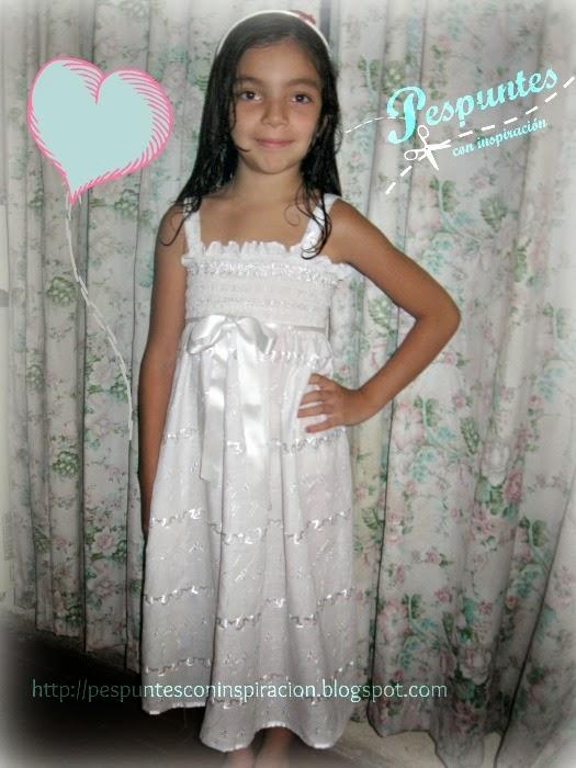 Pespuntes con inspiración: Solera de niña transformando una falda