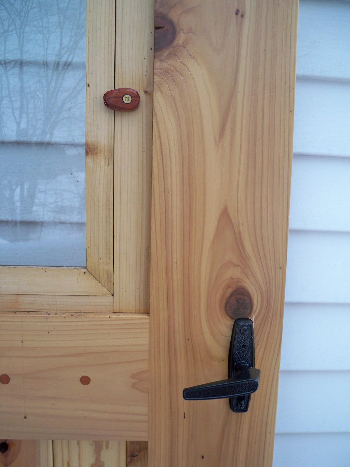 Littlewing Woodwork Red Cedar Storm Door