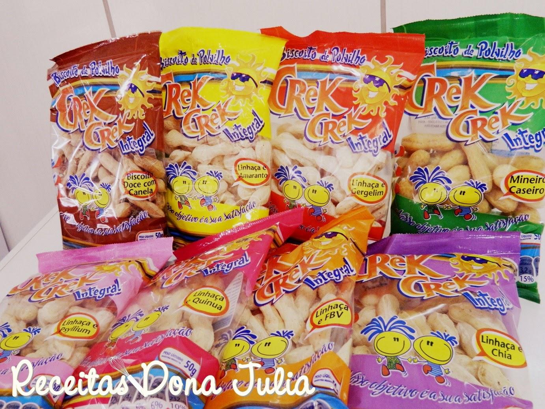 Presskit Biscoitos de polvilho integral Crek Crek