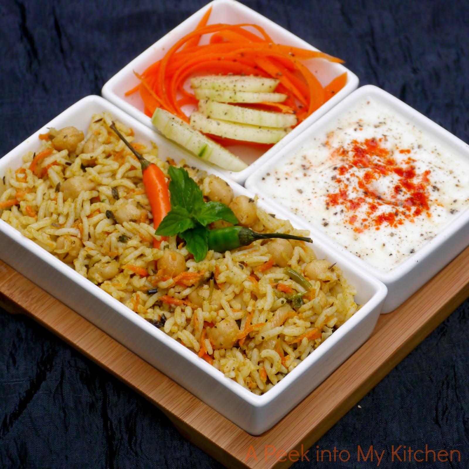 Chana Pulao / Chickpeas Rice