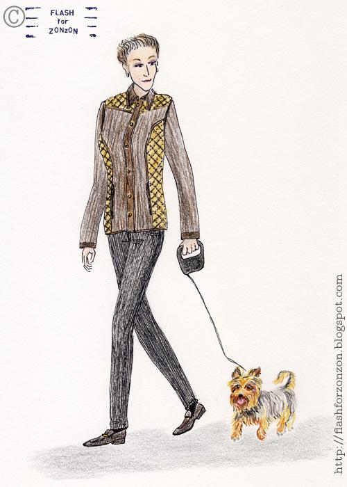Street Style Helsinki. Going with Australian Silky Terrier.
