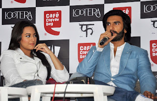 Sonakshi Sinha & Ranveer Promote Lootera at Cafe Coffee Day Photos