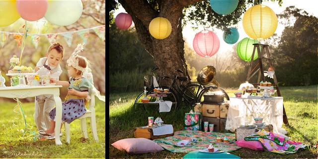 Picnic y fiesta de te para evento infantil
