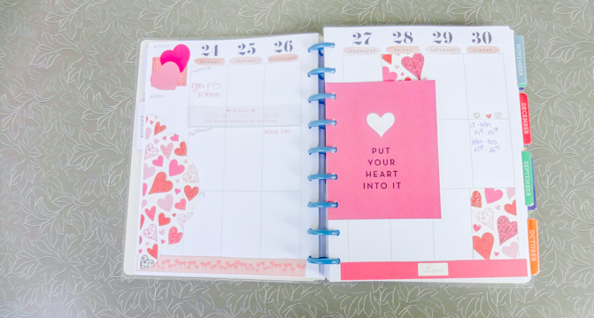 love planner decoration
