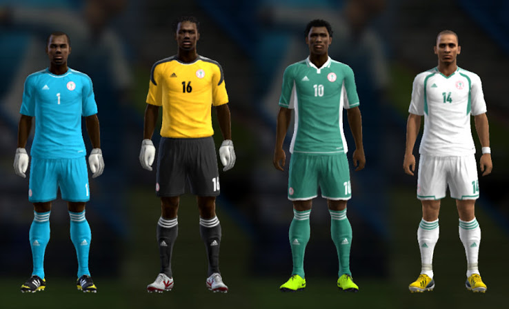 PES 2013 Nigeria 12 13 Kit Set by TheNamesJER