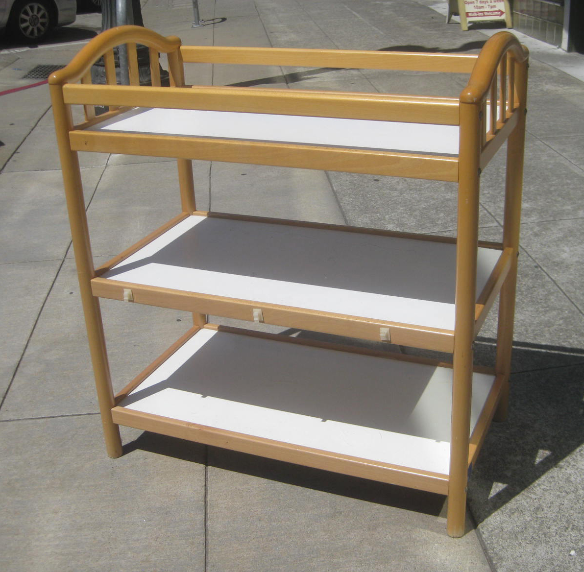 SOLD   Natural Wood Baby Changing Table   $100