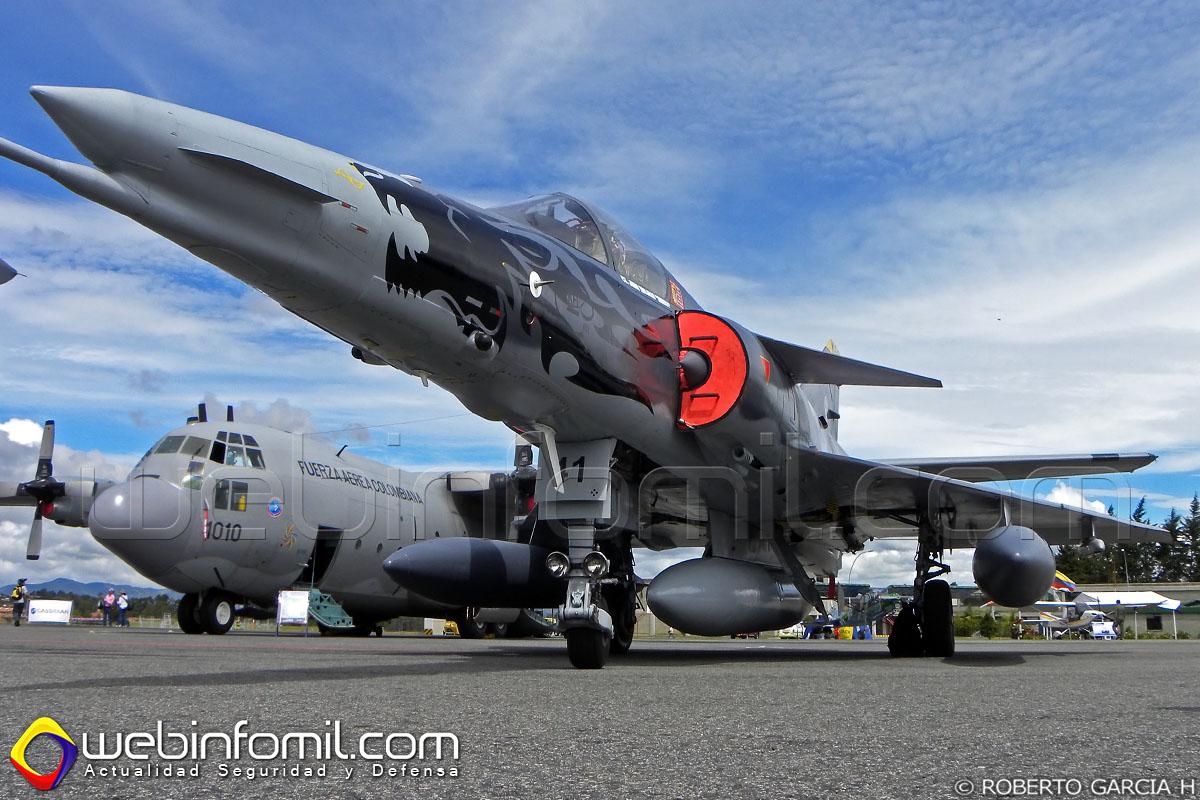 Este Kfir perteneciente a la Fuerza Aérea Colombiana y matriculado FAC3041 se accidentó en cercanías a la Base Aérea de Palanquero.