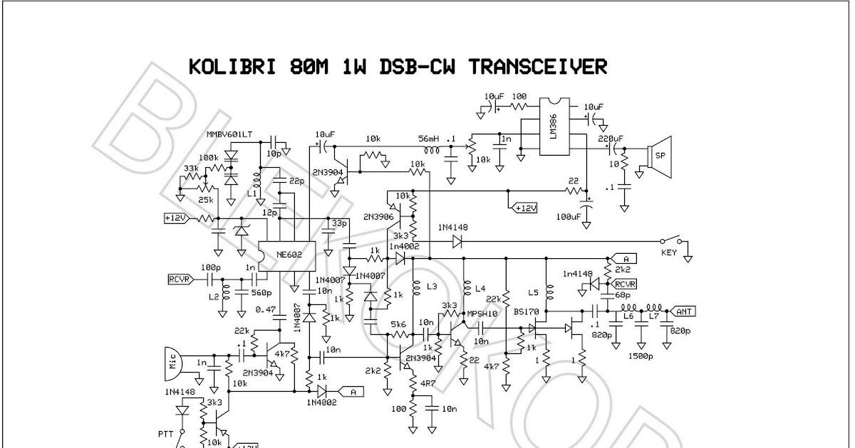 Kolibri 80m Dsb Cw 1w Transceiver