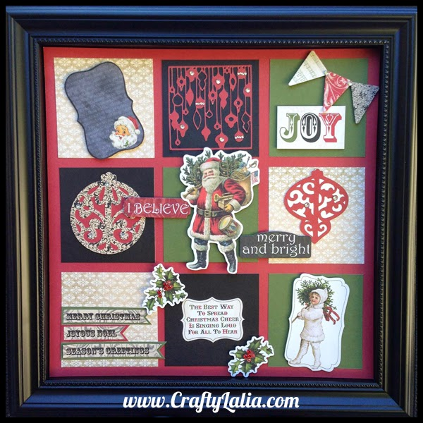 Christmas Shadow Box with CTMH Yuletide Carol | CraftyLalia.com