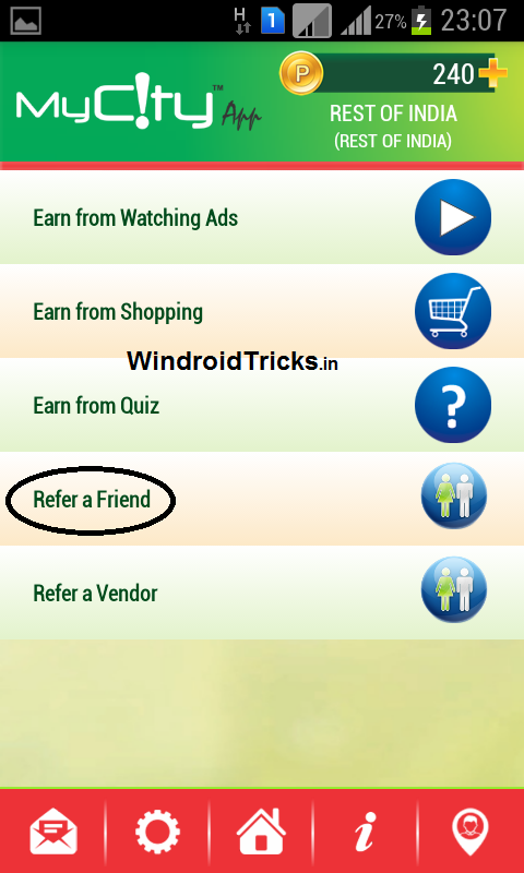 Earn Recharge by referring friends