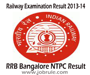 RRB Bangalore NTPC Second Stage (CEN 03/2012) Result and Aptitude & Typing Test Schedule 2013
