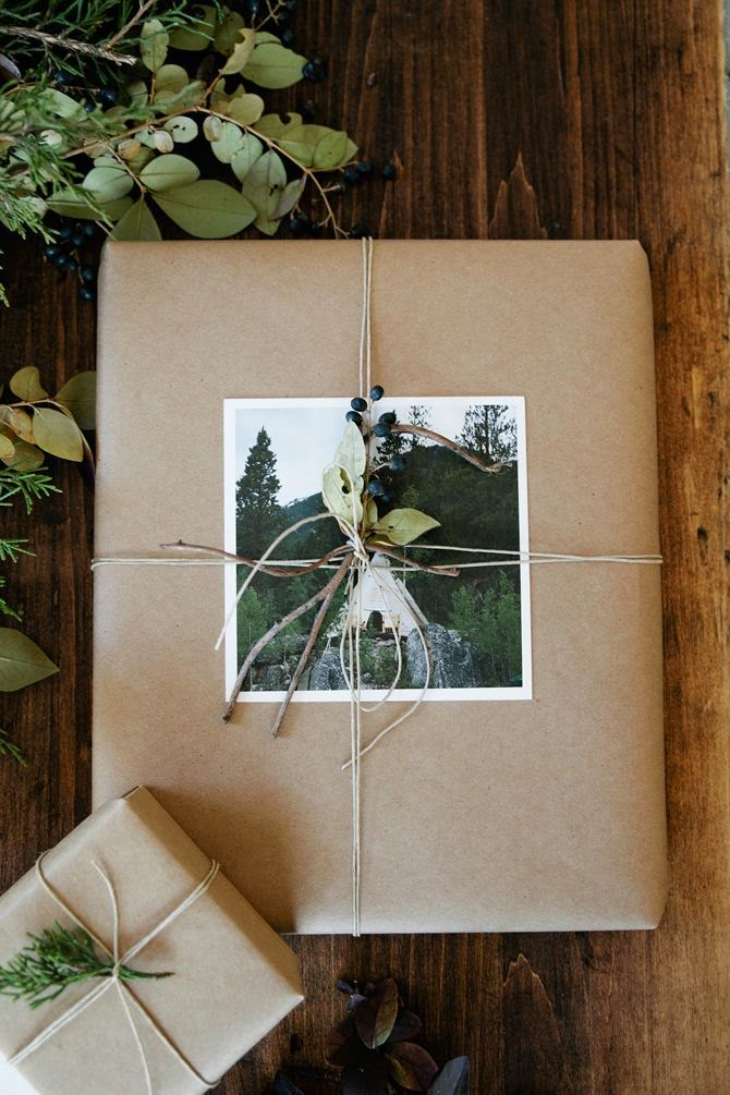 DIY repurposed gift wrapping