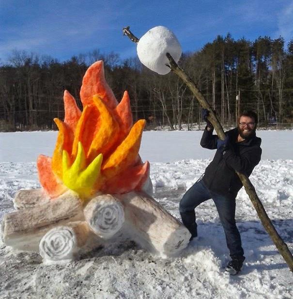 snow sculpture art