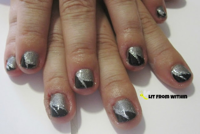 black and silver and holo