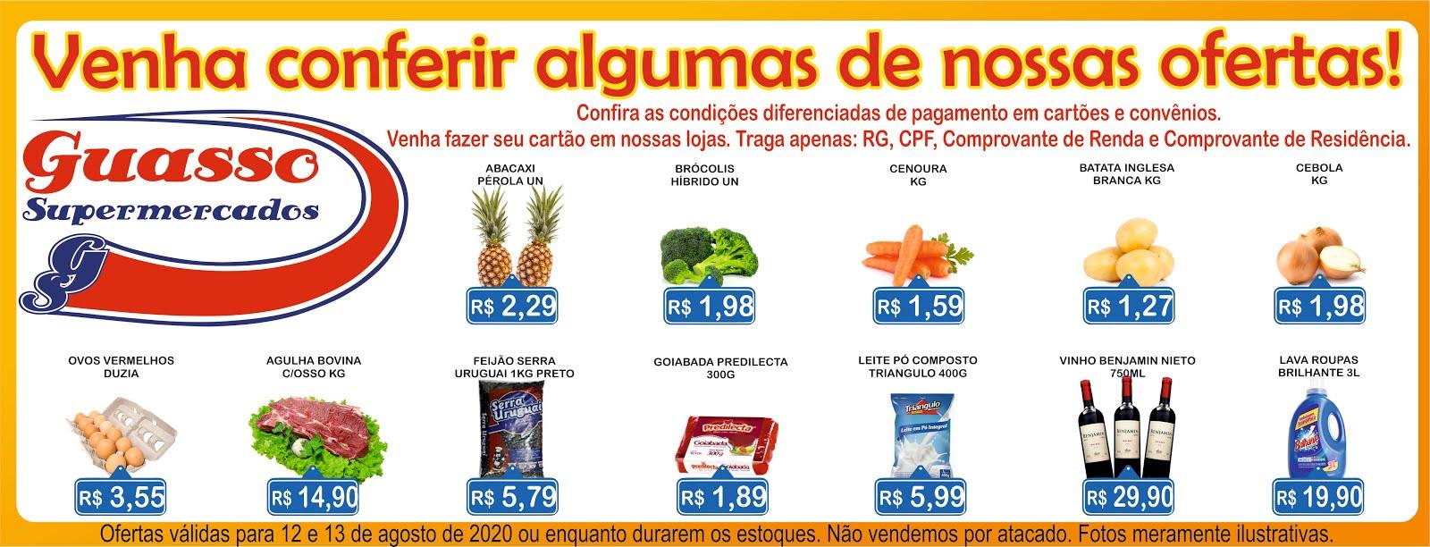 Ofertas válidas para quarta e quinta-feira na Rede Guasso Supermercados!!!
