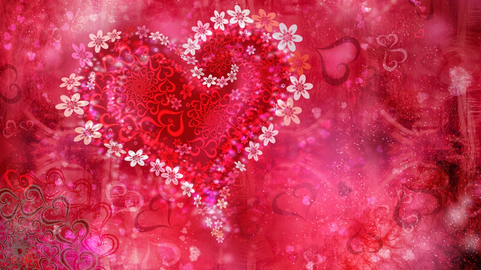 wallpaper paint color red hearts my love wallpaper hd