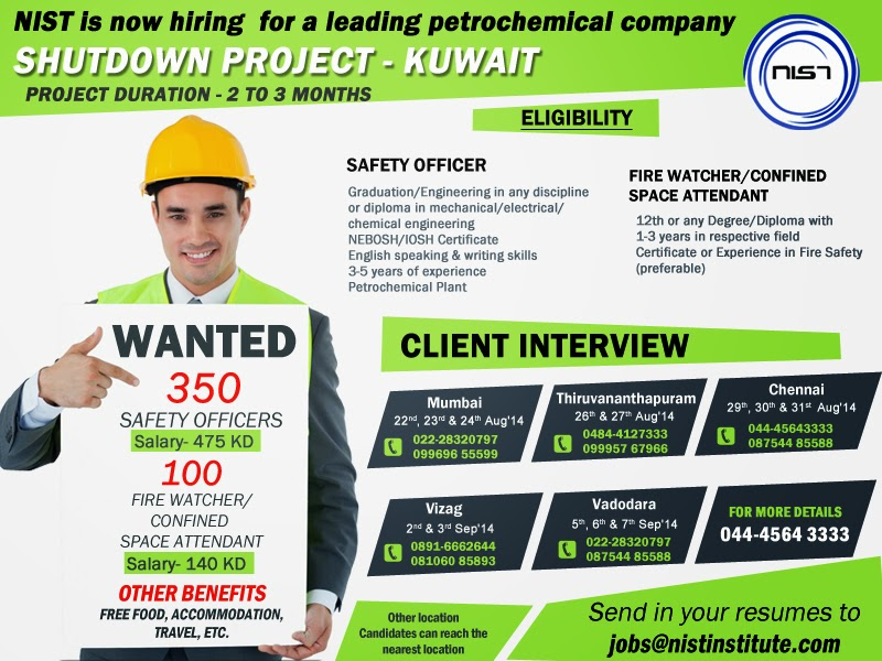 Safety Officer Job Opening Kuwait