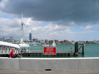 spinnaker tower portsmouth from gosport by ferry port