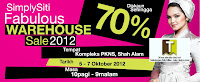 SimplySiti Skincare Cosmetics Warehouse Sale 2012