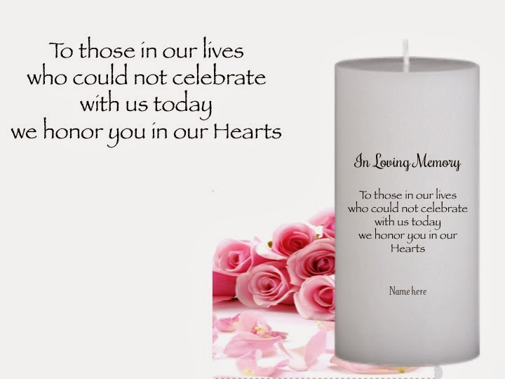 Memorial & Remembrance Personalized Candles | Unity Candles Personalized