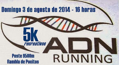 5K recreativos ADN running (rambla de Pocitos, 03/ago/2014)