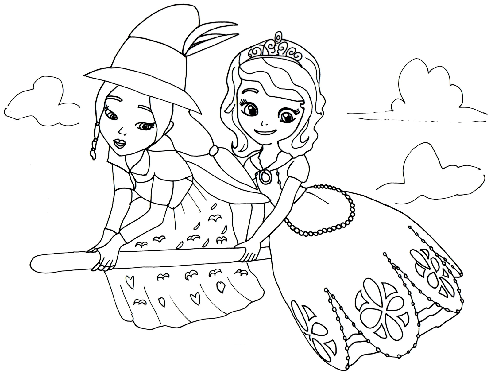 sofia the first coloring pages lucinda and sofia the first coloring