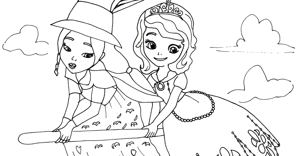 sofia the first coloring pages lucinda and sofia the first, coloring pages